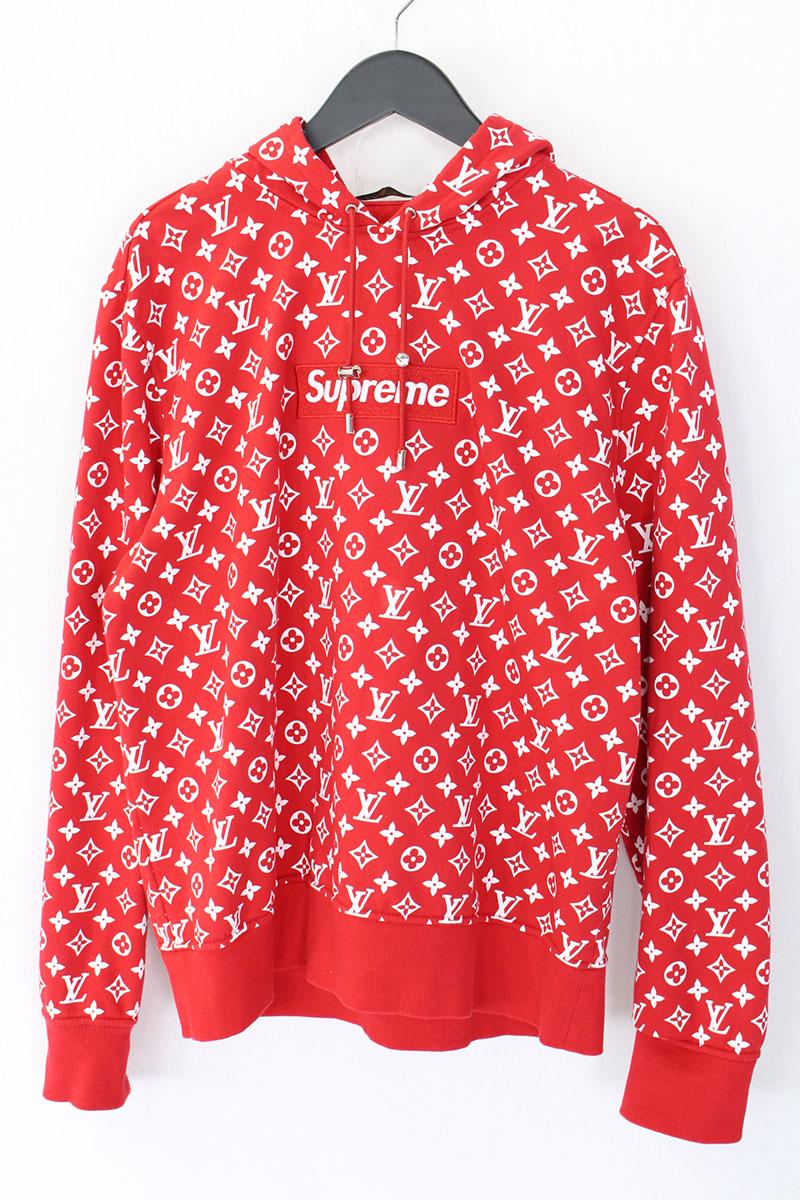 シュプリーム SUPREME LV Box Logo Hooded Sweatshirt ボックスロゴプルオーバーパーカー