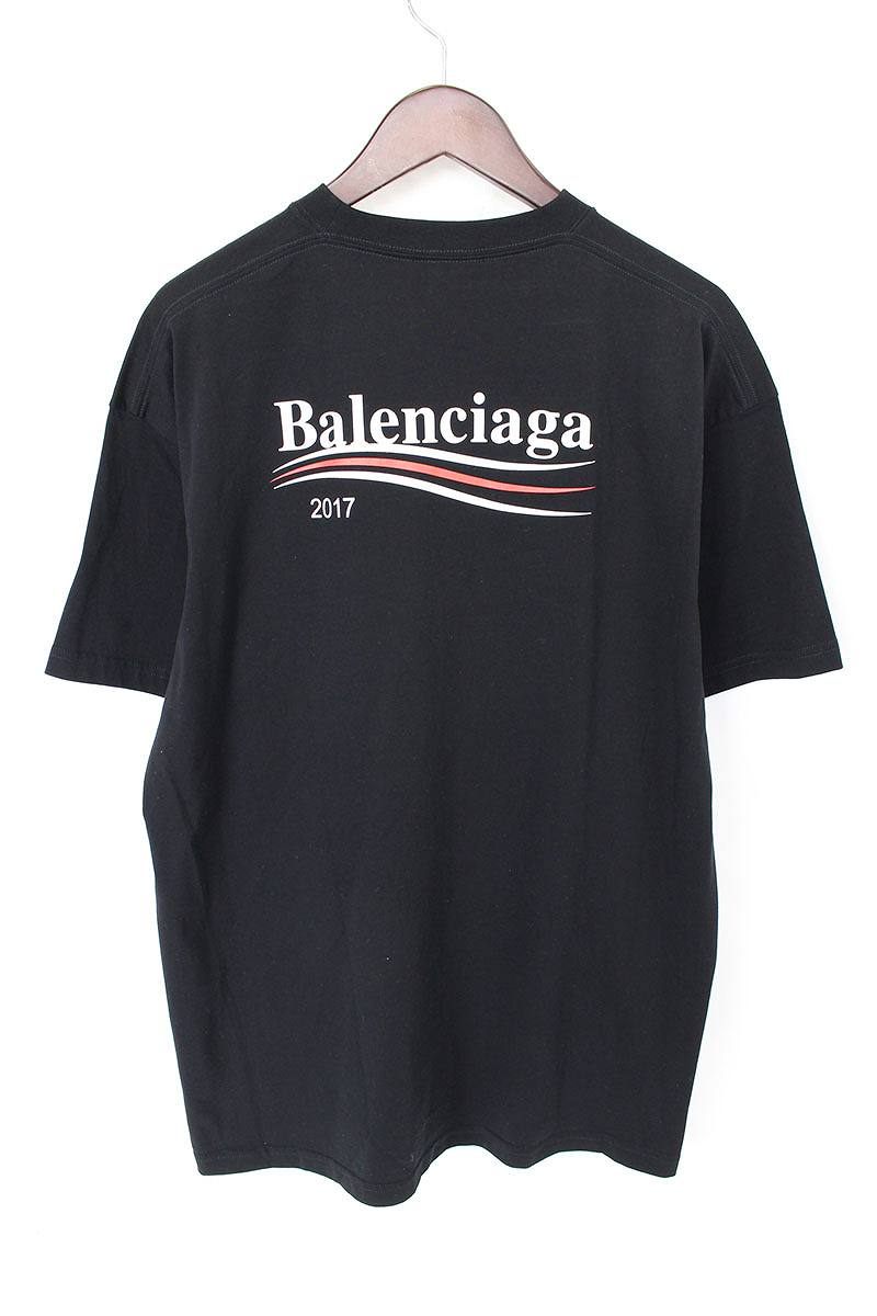 バレンシアガ BALENCIAGA 左胸バックロゴプリントTシャツ