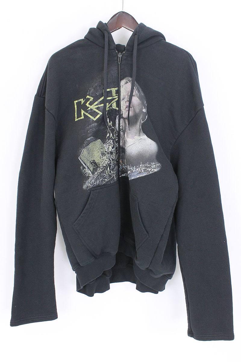 ヴェトモン VETEMENTS Kiss & Titanic Hooded Zip-up Sweatshirt オーバーサイズドジップアップパーカー