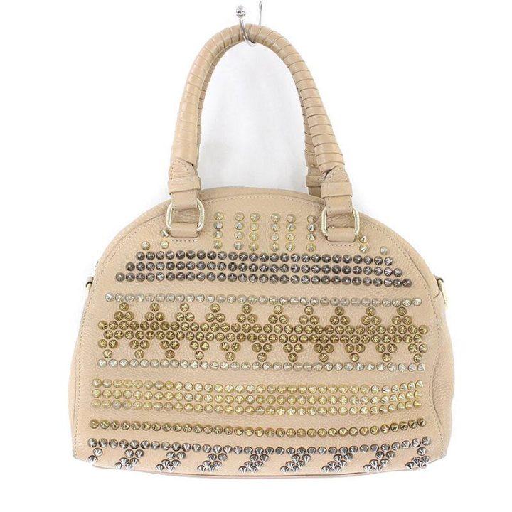 クリスチャンルブタン Christian Louboutin パネトーネスモール マルチカラースタッズ装飾レザーハンドバッグ