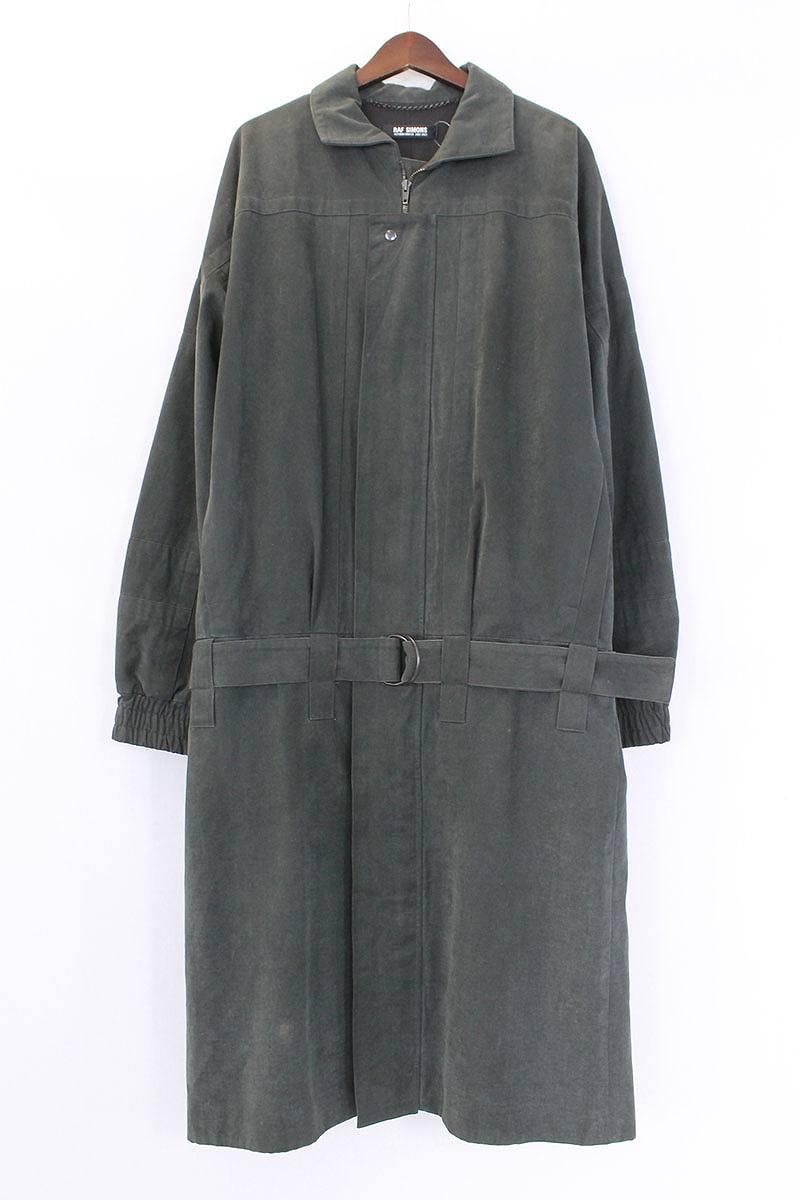 ラフシモンズ RAF SIMONS Virginia Creeper Coat ベルトデザインジップアップコート