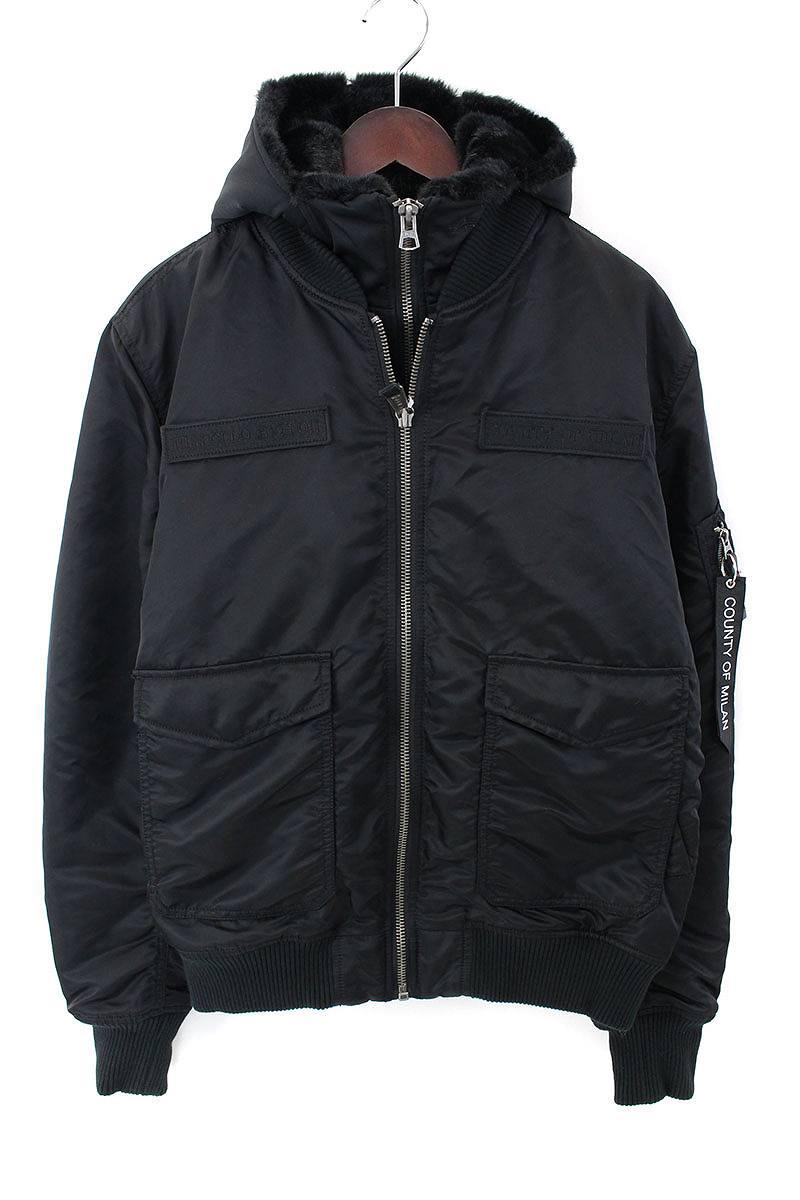 マルセロバーロン MARCELO BURLON ×ALPHAダブルジップボンバーMA1ジャケット