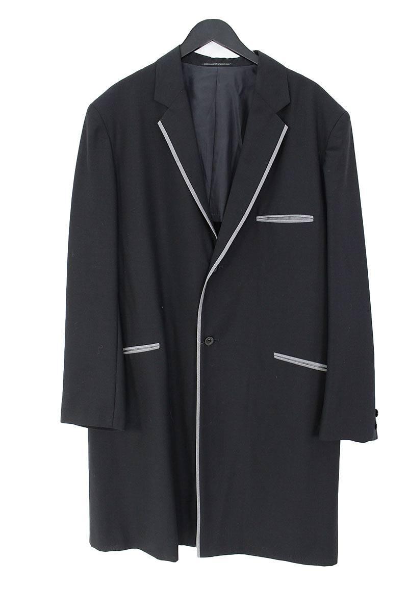 ヨウジヤマモトプールオム Yohji Yamamoto POUR HOMME パイピングデザインロングジャケット