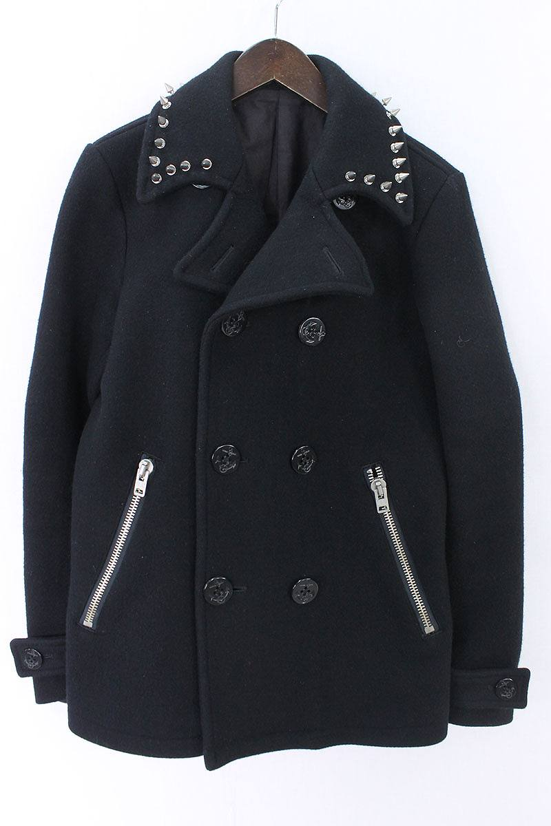 ラグスマックレガー Rags McGREGOR 襟スタッズ付きPコート