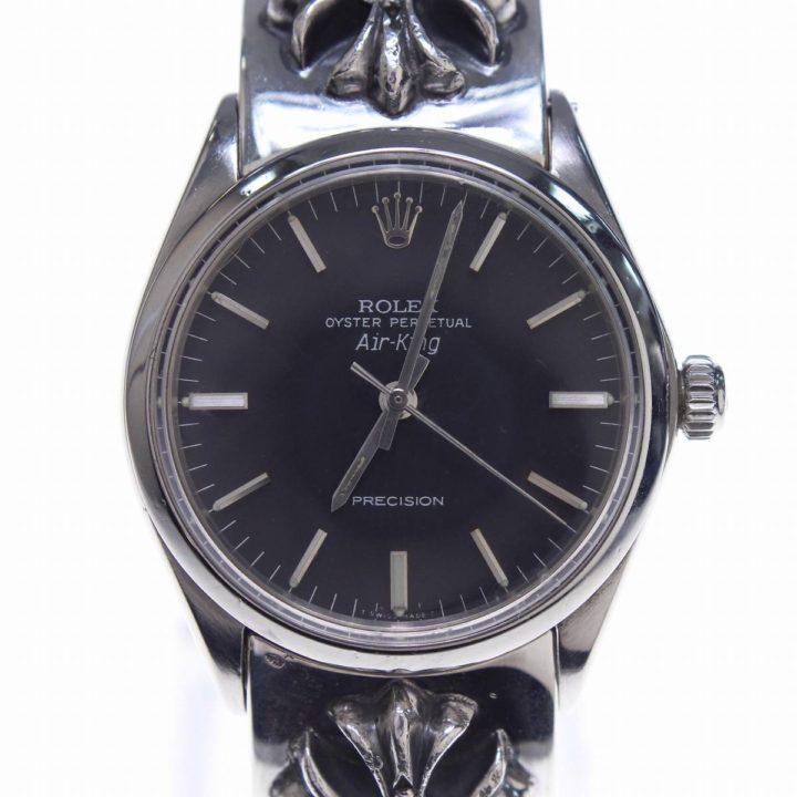 クロムハーツ Chrome Hearts × ロレックス ROLEX エアキング CHプラスダイヤクラシックリンクウォッチブレス腕時計