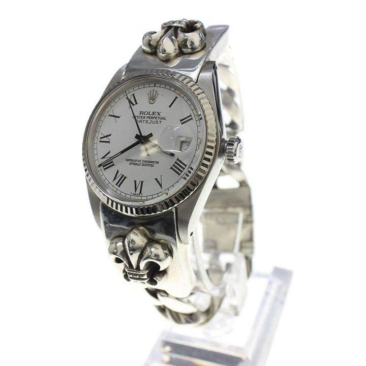 クロムハーツ Chrome Hearts × ロレックス ROLEX Ref16014/デイトジャスト BSフレアクラシックリンクウォッチブレスレット腕時計