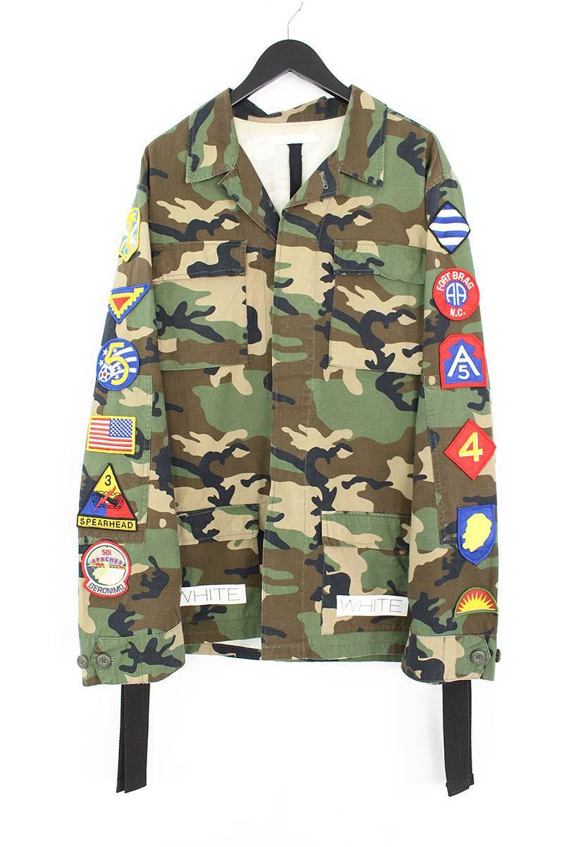 オフホワイト OFF-WHITE Sahariana Jacket アームワッペンバックプリントフィールドジャケット