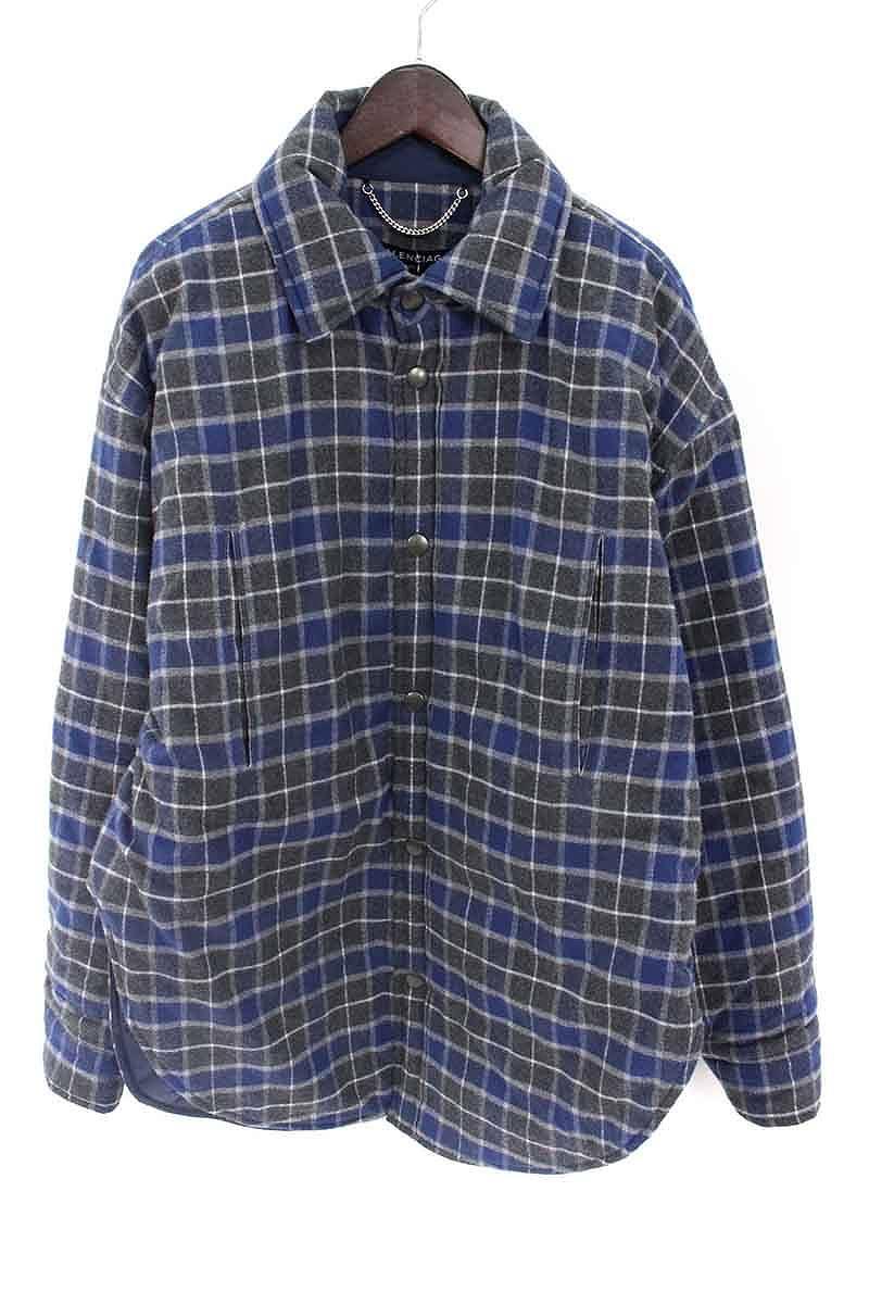 reputable site d19b0 f68c9 バレンシアガ BALENCIAGA Padded Flannel Shirt 裏地 ...