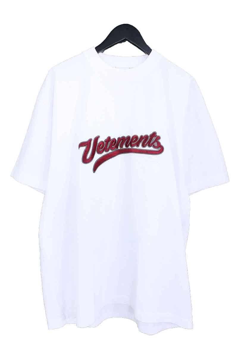 ヴェトモン VETEMENTS ロゴ刺繍Tシャツ