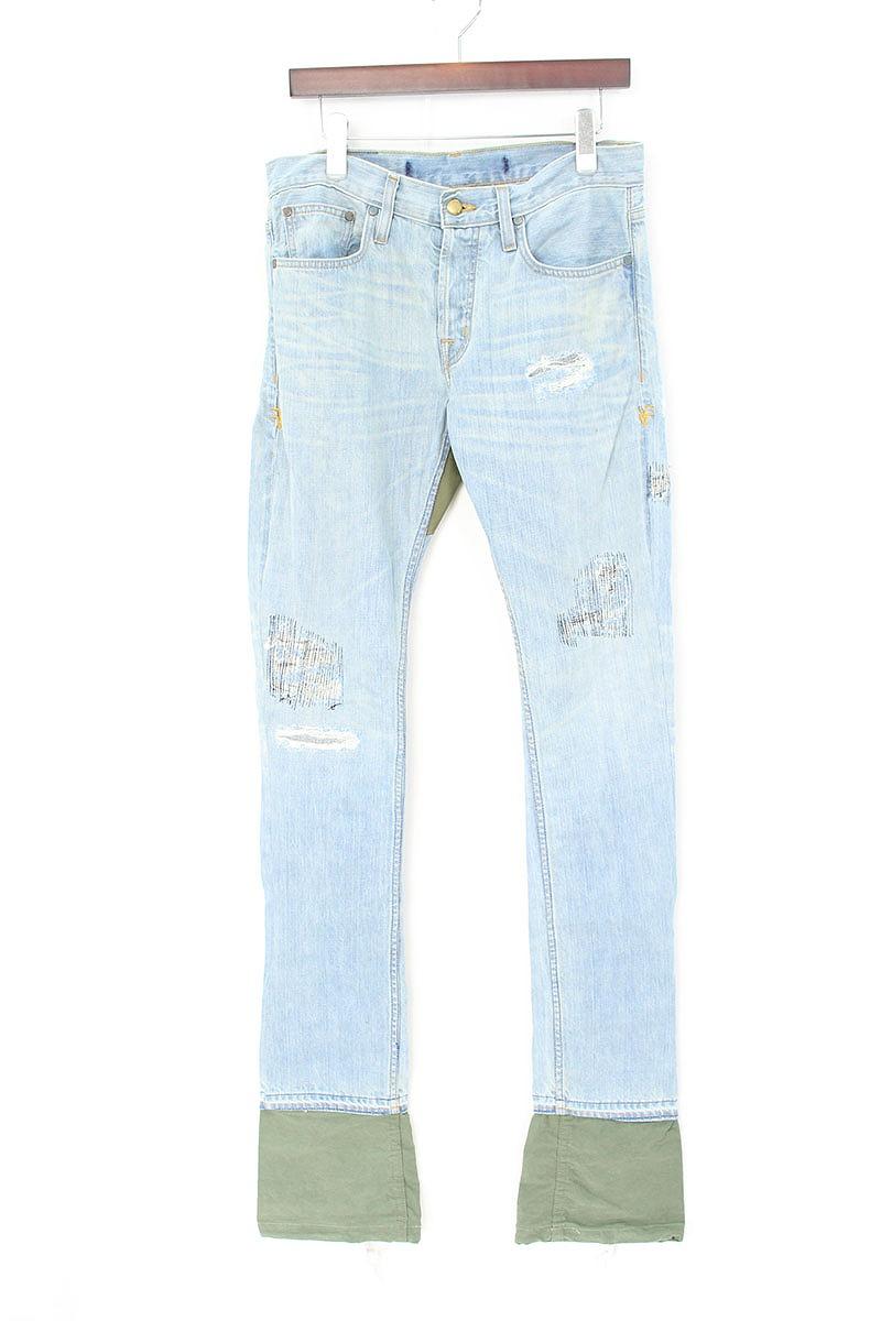 ヴィーロン VLONE Art Basel Miami Jeans アートバゼル限定カーゴ切り替えデニムパンツ