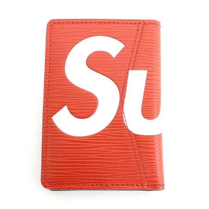 シュプリーム SUPREME × ルイヴィトン LOUIS VUITTON LV Pocket Organizer ロゴエピレザーカードケース