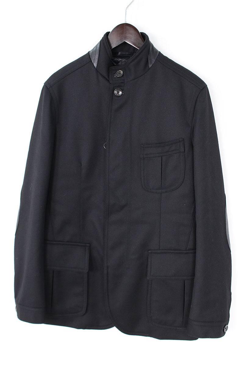 トムフォード TOMFORD レザー切替ジップアップ中綿入りジャケット