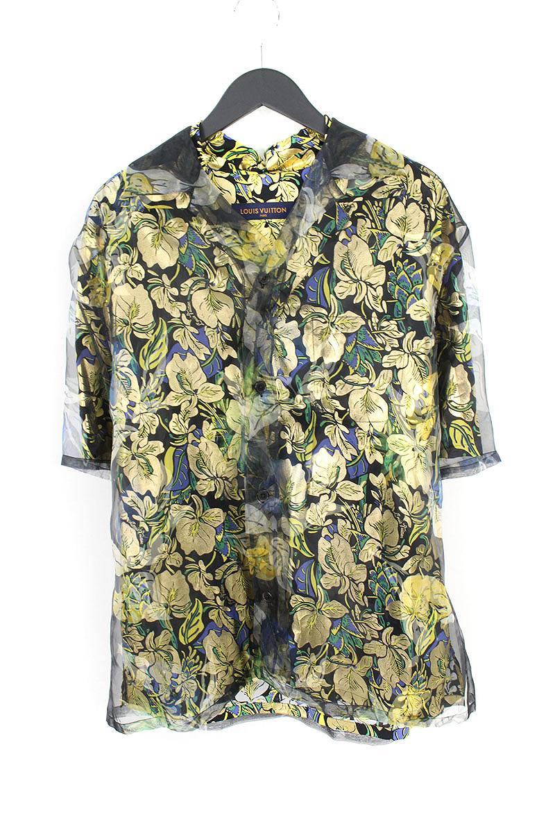 ルイヴィトン LOUISVUITTON RM181 GFI HES63W ハワイアンリリーバンブーダブルレイヤーシャツ