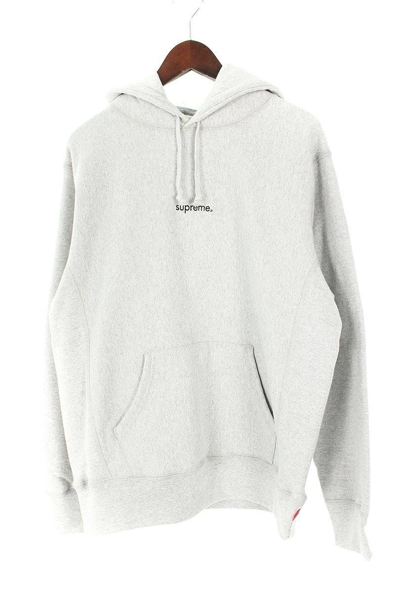 シュプリーム SUPREME Trademark Hooded Sweatshirt 胸ロゴ刺繍パーカー