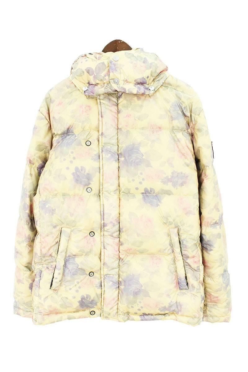 シュプリーム SUPREME × ストーンアイランド STONE ISLAND Lamy Cover Stampato Puffy Jacket バックロゴフラワープリントダウンジャケット