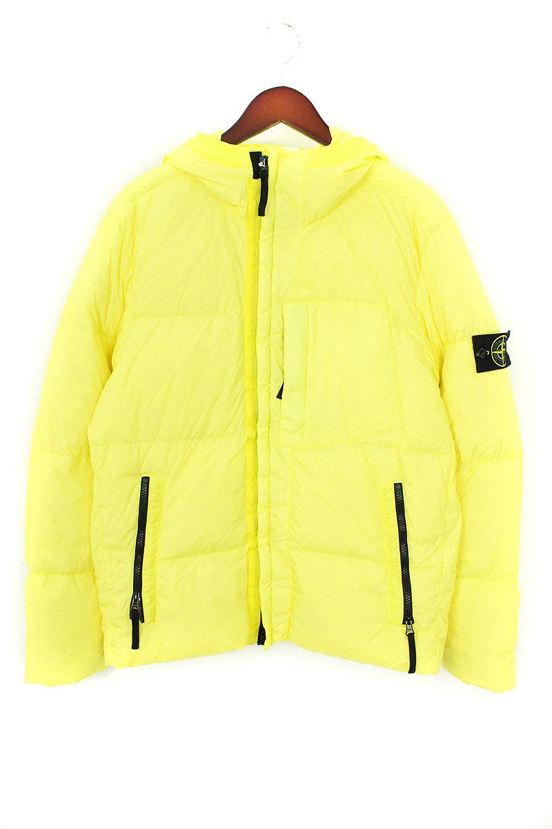 ストーンアイランド STONE ISLAND 671540223 Garment Dyed Crinkle Reps NY Down スリーブワッペンフーデットダウンジャケット