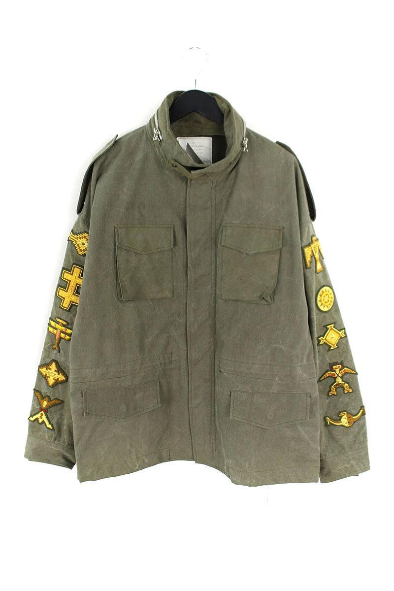 レディメイド READYMADE OVERSIZE FIELD JACKET ワッペン装飾M-65ミリタリージャケット