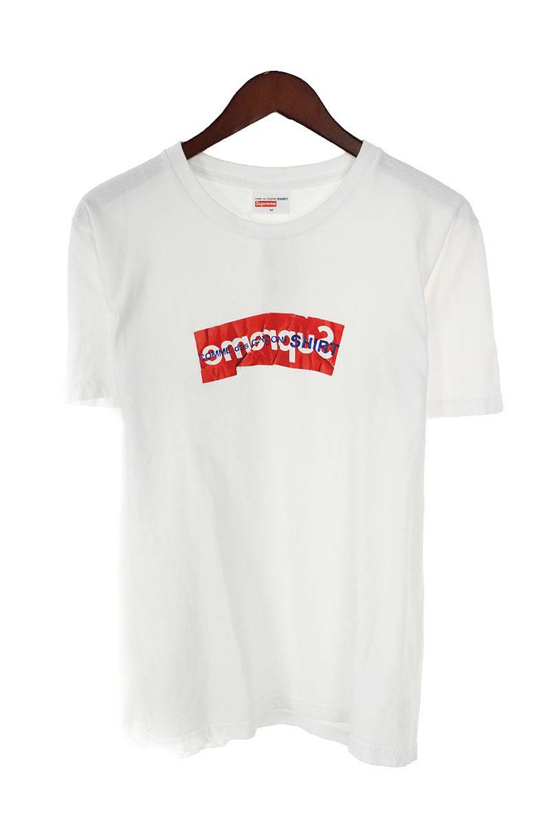 シュプリーム SUPREME × コムデギャルソンシャツ COMME des GARCONS SHIRT Box Logo Tee ペーパーアートボックスロゴTシャツ