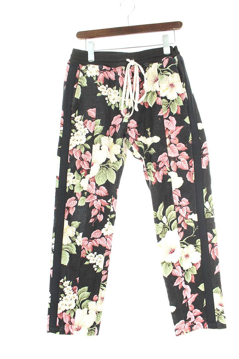 フィアオブゴッド FEAR OF GOD FIFTH COLLECTION Black Backcloth Floral Lounge Pants フローラル花柄ロングパンツ