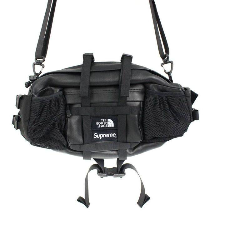 シュプリーム SUPREME × ノースフェイス THE NORTH FACE Leather Mountain Waist Bag ボックスロゴレザーウエストバッグ
