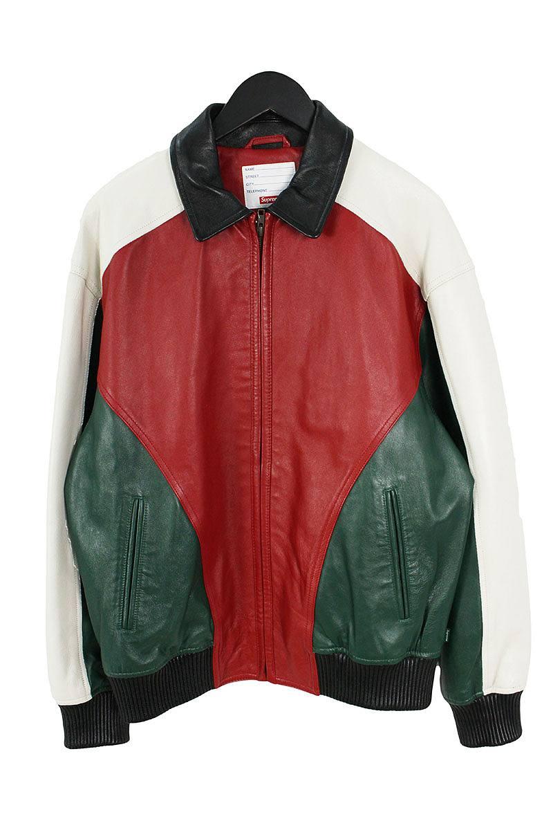 シュプリーム SUPREME Studded Arc Logo Leather Jacket バックスタッズレザージャケット