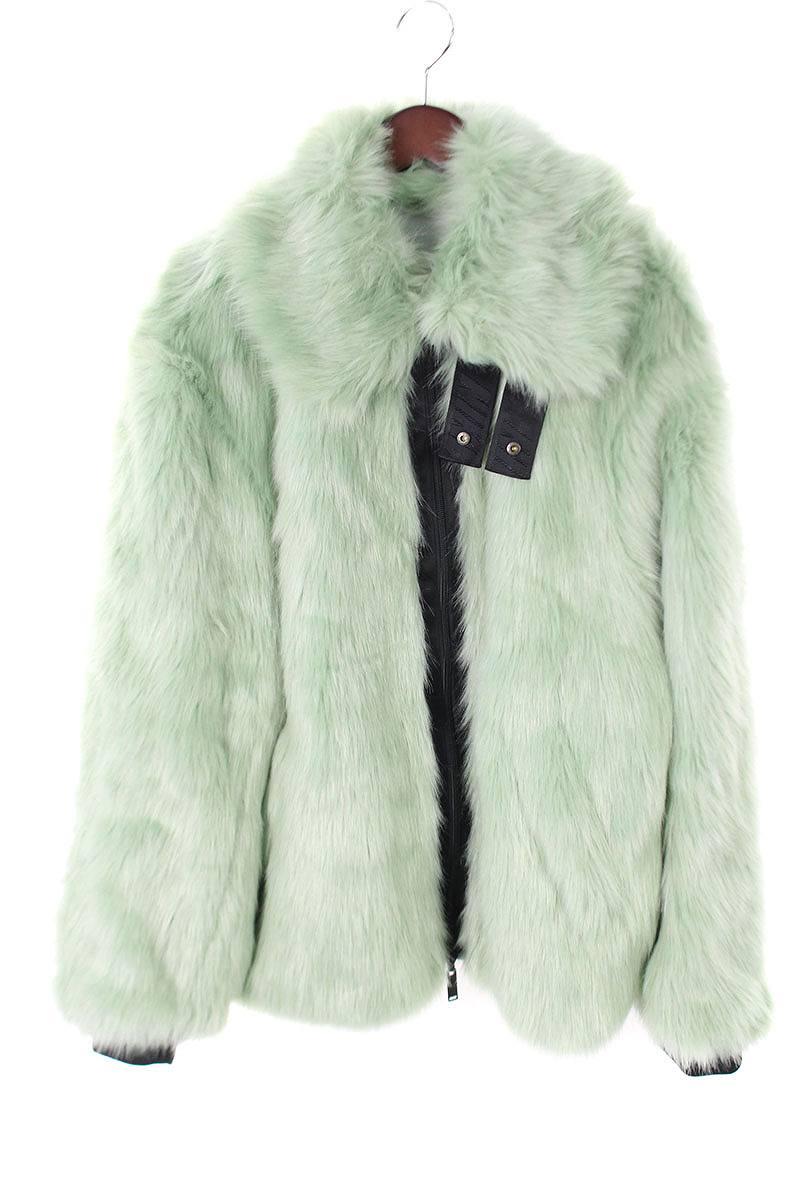 アンブッシュ AMBUSH × ナイキ NIKE Reversible Faux Fur Coat AQ9225-390 バックロゴリバーシブルフェイク ファーコート