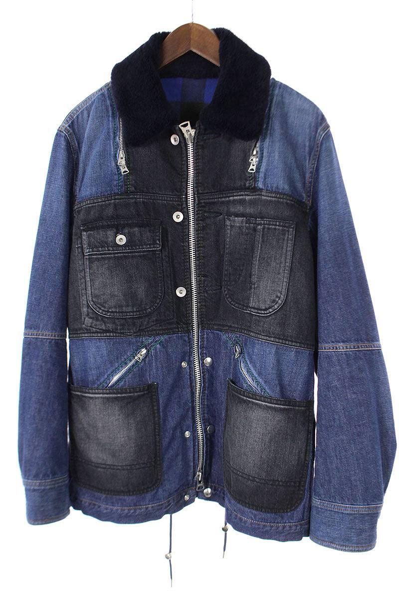 サカイ Sacai Patchwork Denim Jacket パッチワークジップアップデニムジャケット