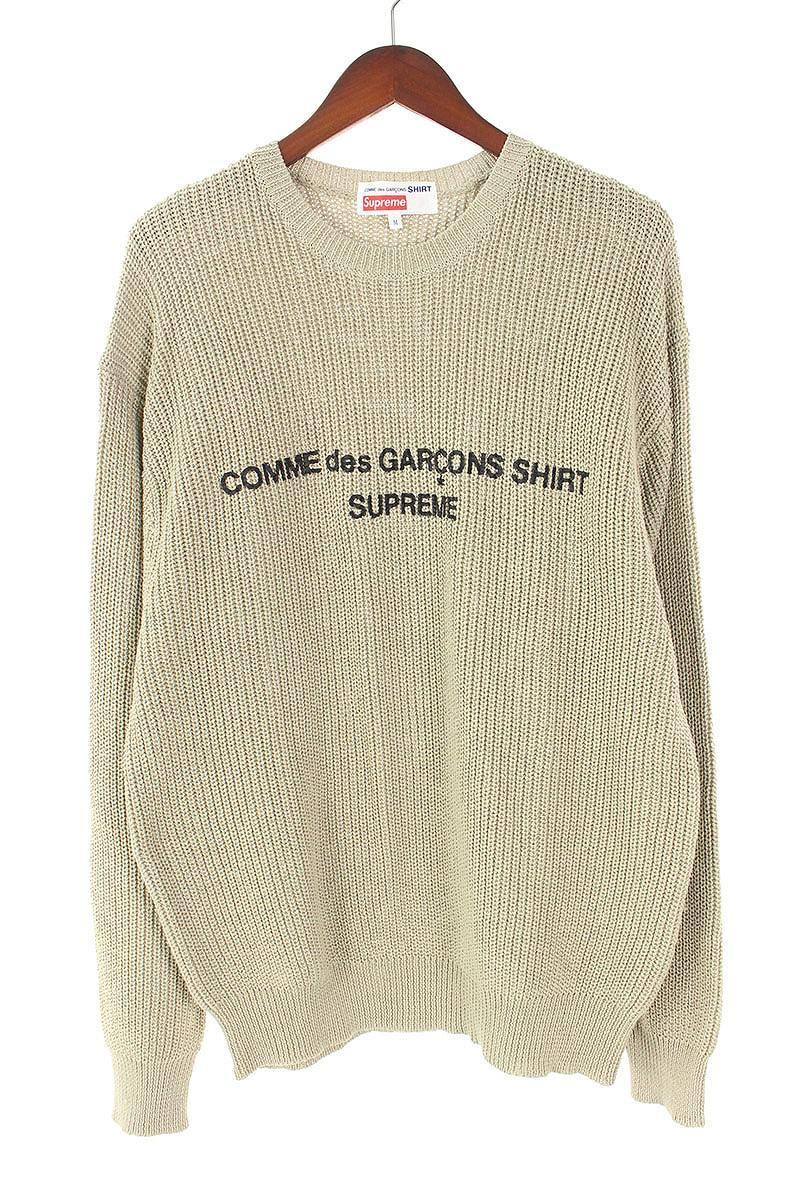 シュプリーム SUPREME × コムデギャルソン COMME des GARCONS Cotton Sweater フロントロゴプリントローゲージニット