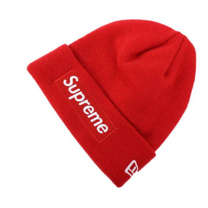 シュプリーム SUPREME × ニューエラ New Era Box Logo Beanie ボックスロゴビーニーニット帽