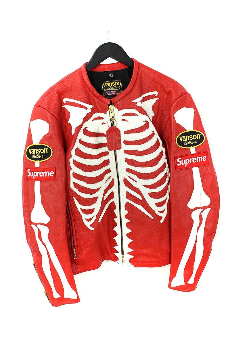 シュプリーム SUPREME × バンソン VANSON Leather Bones Jacket ボーンレザージャケット