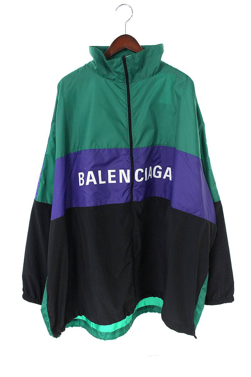 バレンシアガ BALENCIAGA 534317 TBO12 ロゴプリントトラックナイロンブルゾン