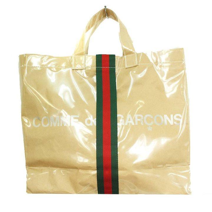 コムデギャルソン COMME des GARCONS × グッチ GUCCI OB-K 201 ホリデーコレクションシェリーラインビニールPVCトートバッグ