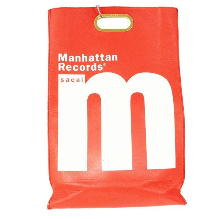 サカイ Sacai × マンハッタンレコード MANHATTAN RECORDS レザー2WAYクラッチバッグ