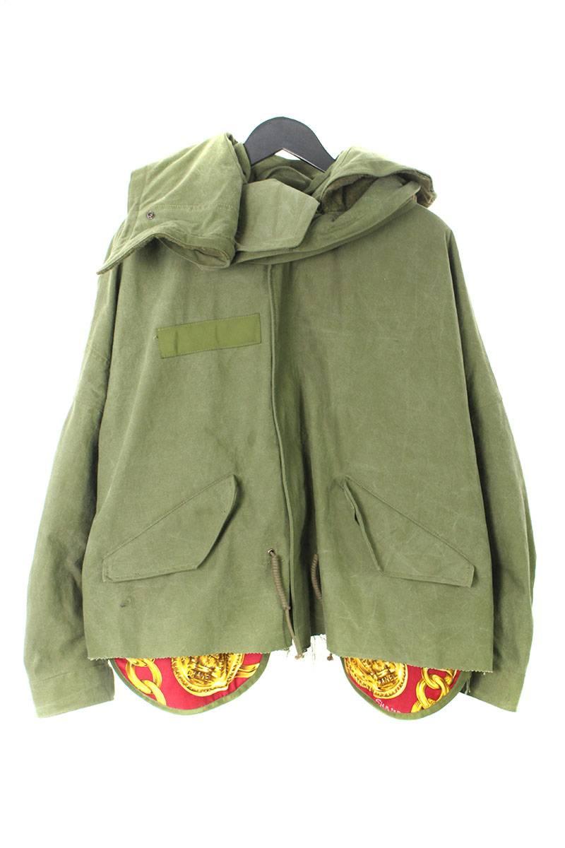 レディメイド READYMADE CUT FISHTAIL PARKA ヴィンテージスカーフポケットミリタリーコート