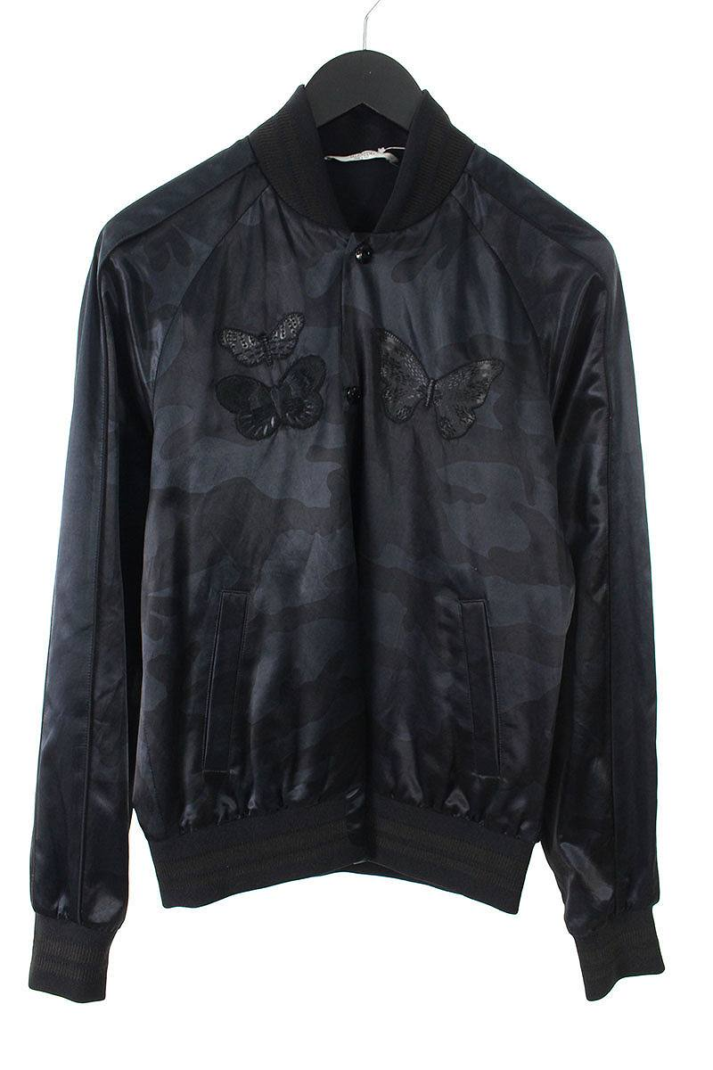 ヴァレンティノ VALENTINO KV0CISA234E バタフライ手刺繍カモフラ柄スーベニアジャケット