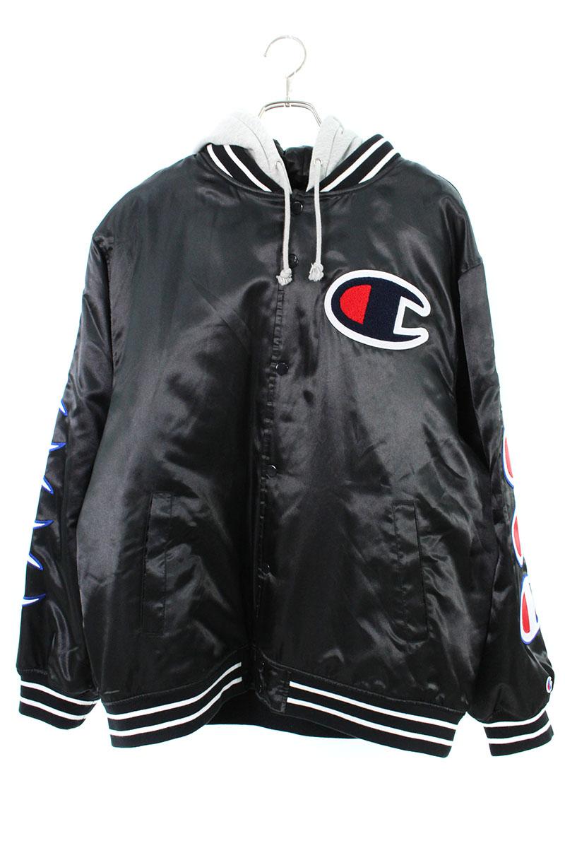 シュプリーム SUPREME × チャンピオン Champion Hooded Satin Varsity Jacket フーデッドサテンバーシティジャケット