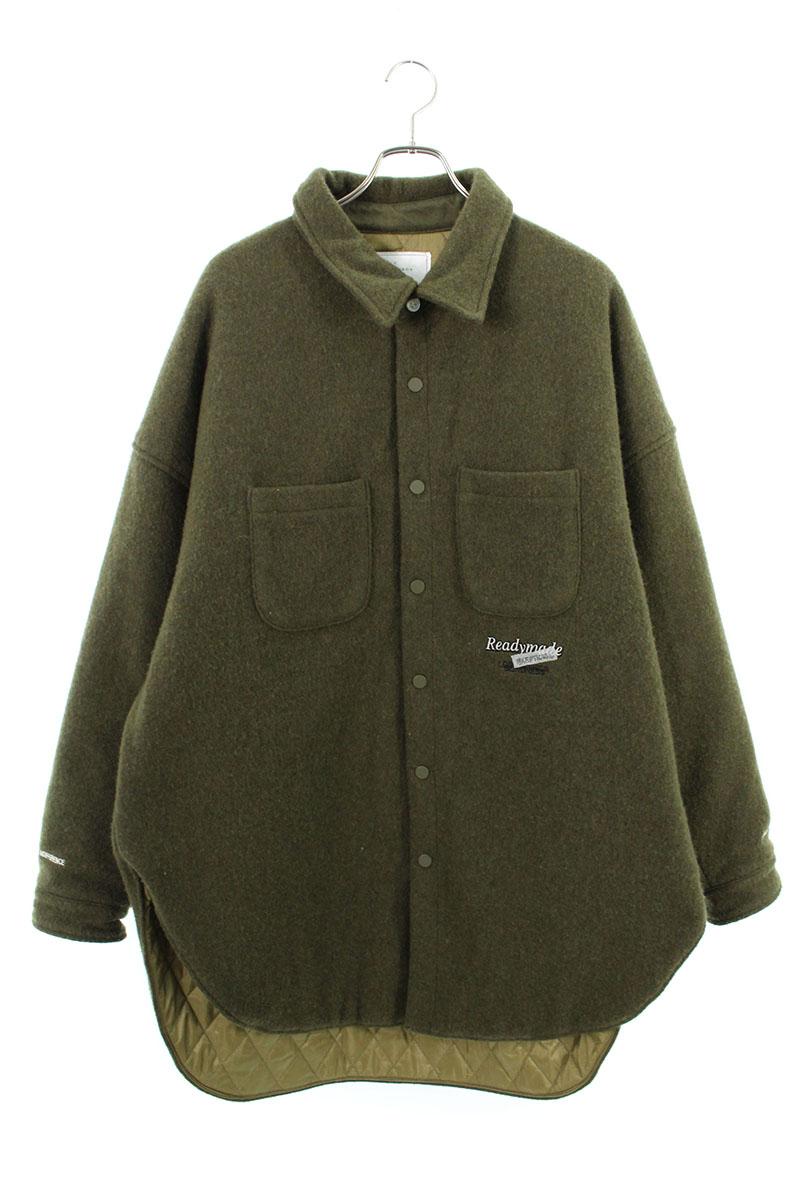 レディメイド READYMADE OVERSIZE SHIRT オーバーサイズウール刺繍長袖シャツ