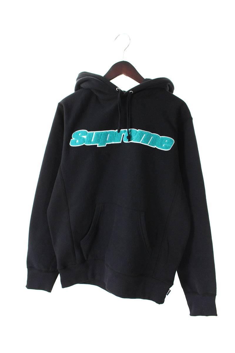 シュプリーム SUPREME Chenille Hooded Sweatshirt シュニールロゴプルオーバーパーカー