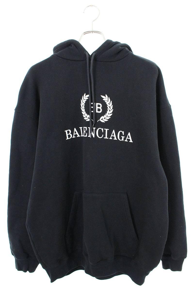 バレンシアガ BALENCIAGA 556143 TDV52 BBロゴプリントプルオーバーパーカー