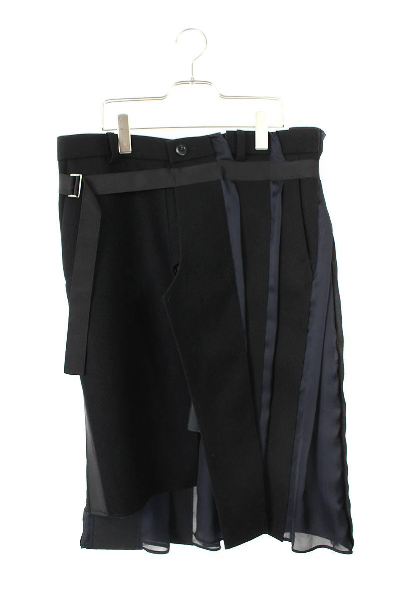 サカイ Sacai パターン切替ラップスカート