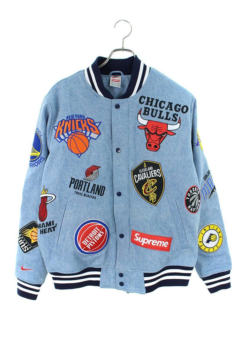 シュプリーム SUPREME × ナイキ NIKE NBA Teams Warm-Up Jacket ワッペンデザインウォームアップジャケット