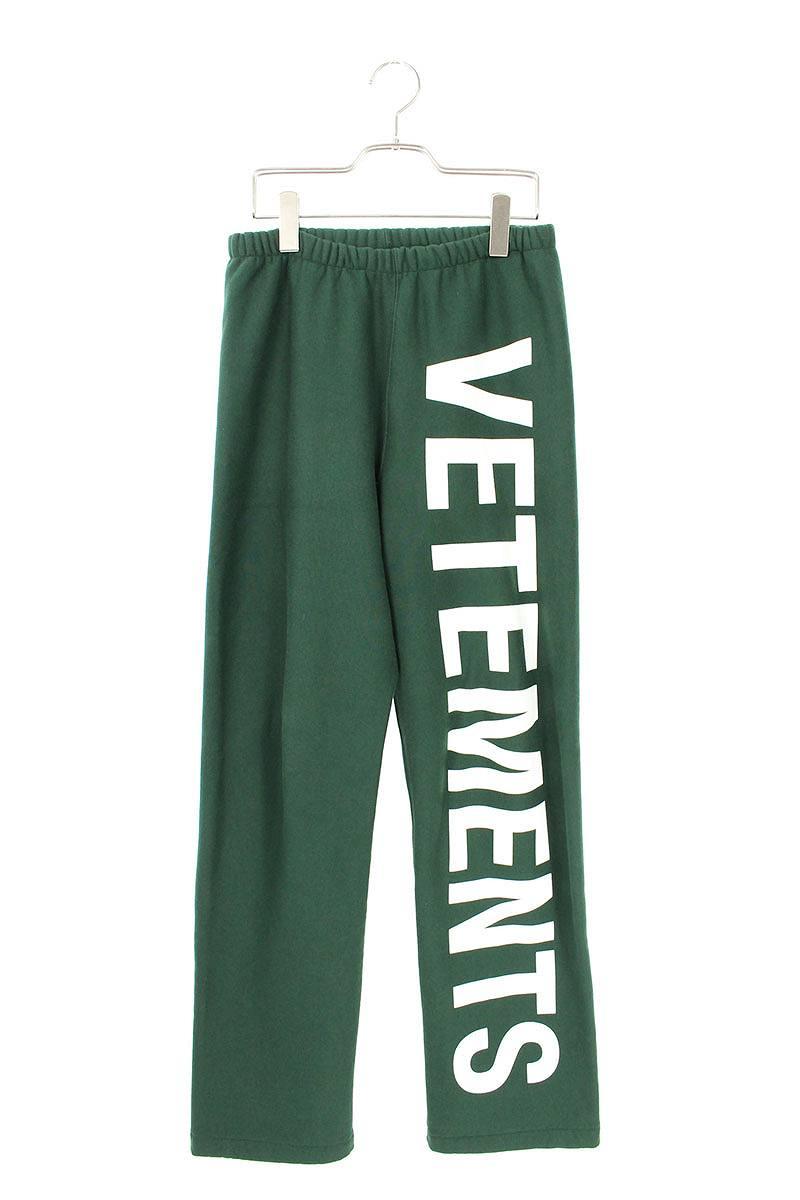 ヴェトモン VETEMENTS WAH19PA107 ロゴプリントスウェットロングパンツ