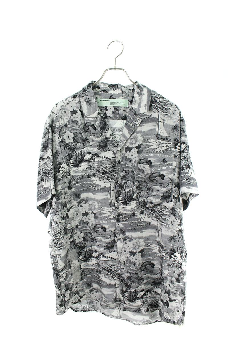 オフホワイト OFF-WHITE HAWAIAN SHIRT オーバーサイズシルクアロハ半袖シャツ