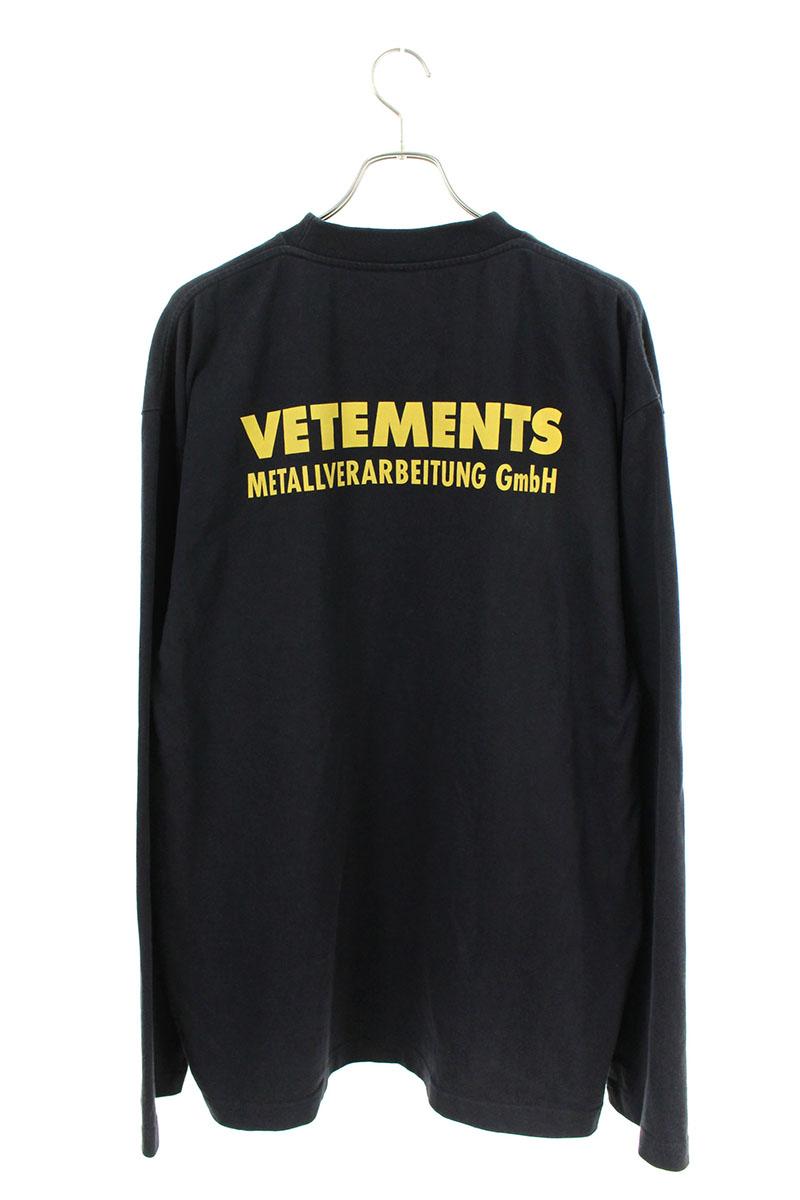 ヴェトモン VETEMENTS MSS18TR44 バックロゴオーバーサイズ長袖カットソー