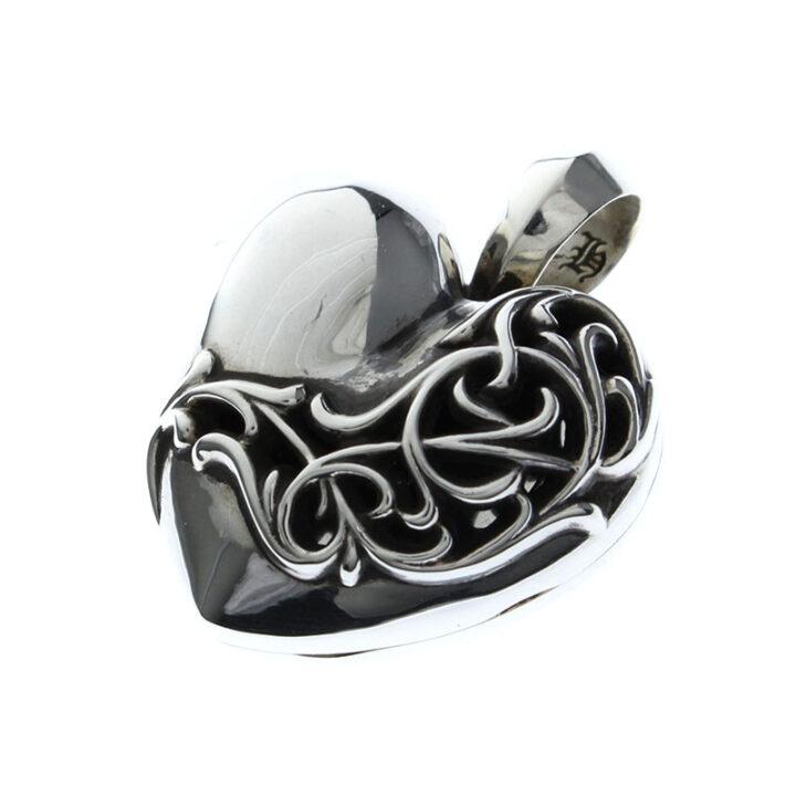 クロムハーツ Chrome Hearts HEART LOCKET/ハートロケット ペンダントネックレストップ