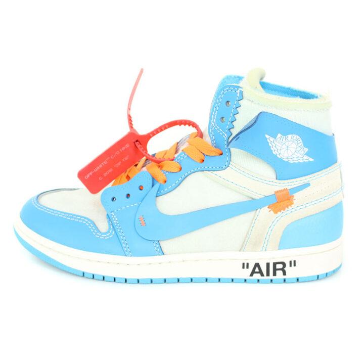 ナイキ オフホワイト NIKE OFF-WHITE AIR JORDAN 1 POWDER BLUE UNC AQ0818-148 エアジョーダン1スニーカー