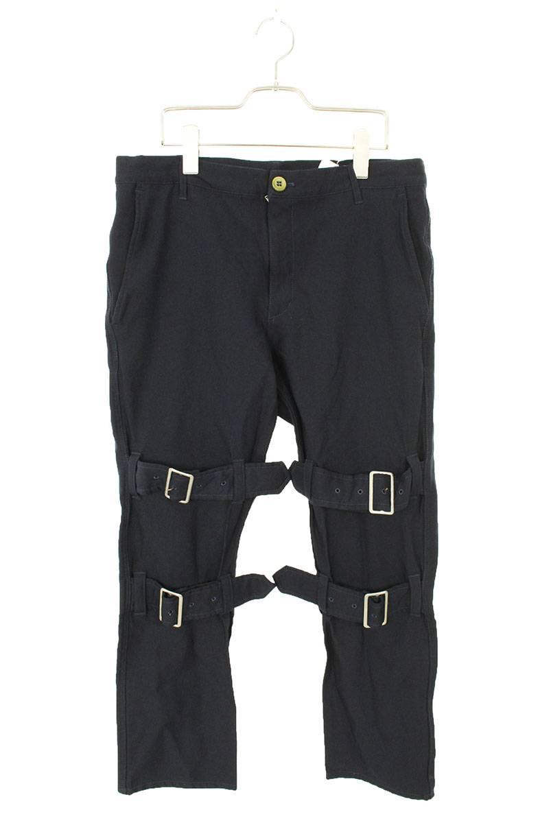 コムデギャルソンシャツ COMME des GARCONS SHIRT S24154 ベルテッドボンテージロングパンツ