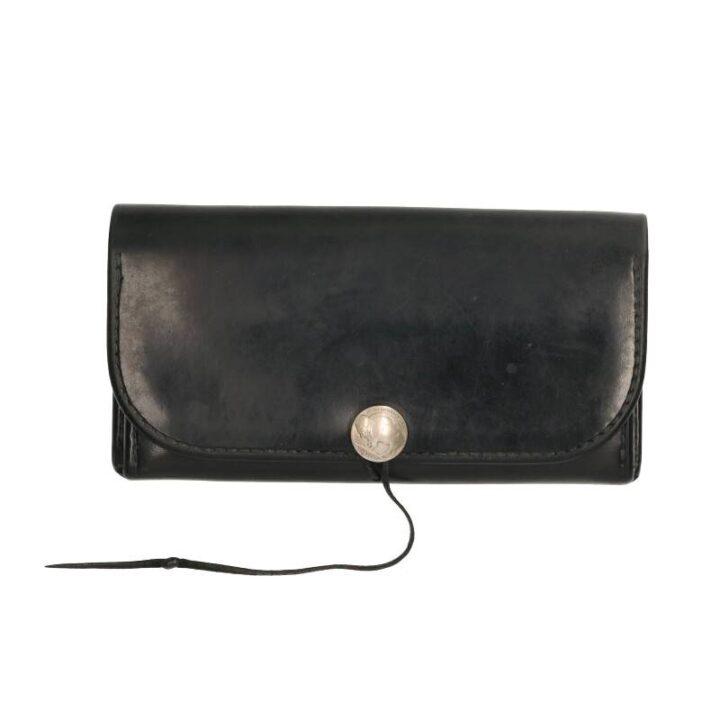 ゴローズ goro's 細長 黒 二つ折り 財布