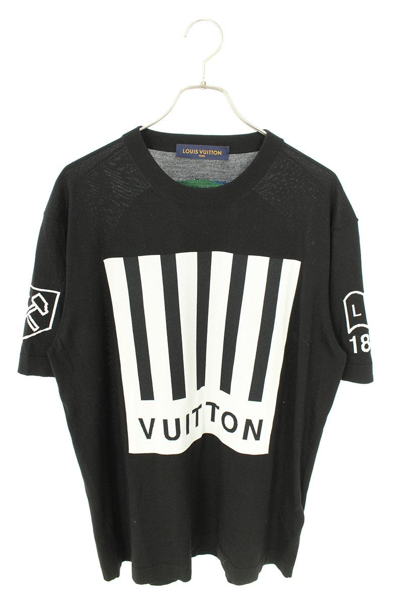 ルイヴィトン LOUIS VUITTON RM192M NOY HHN02W バーコードアンドアースニットTシャツ
