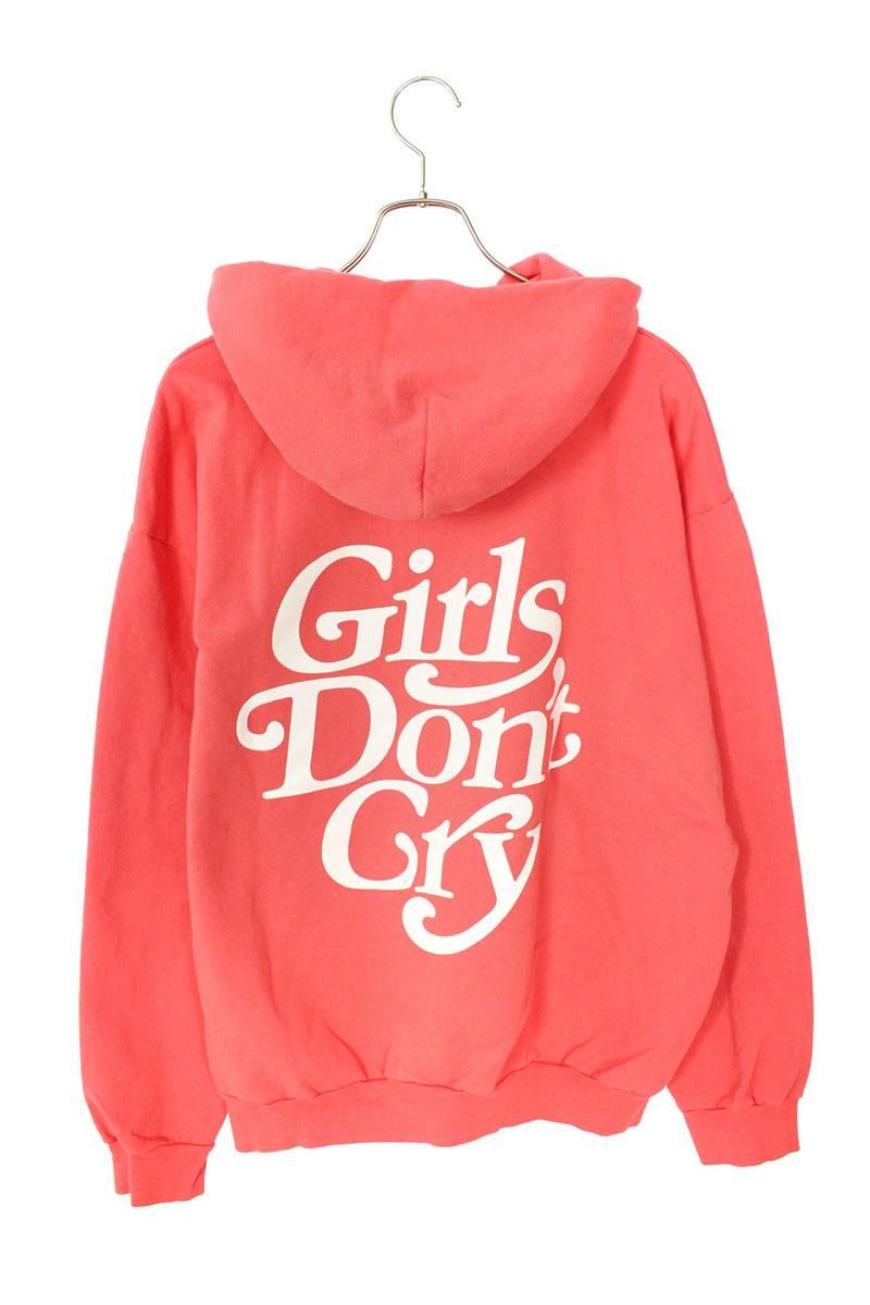 ガールズドントクライ Girls Don't Cry LOGO HOODY ロゴプリントプルオーバーパーカー